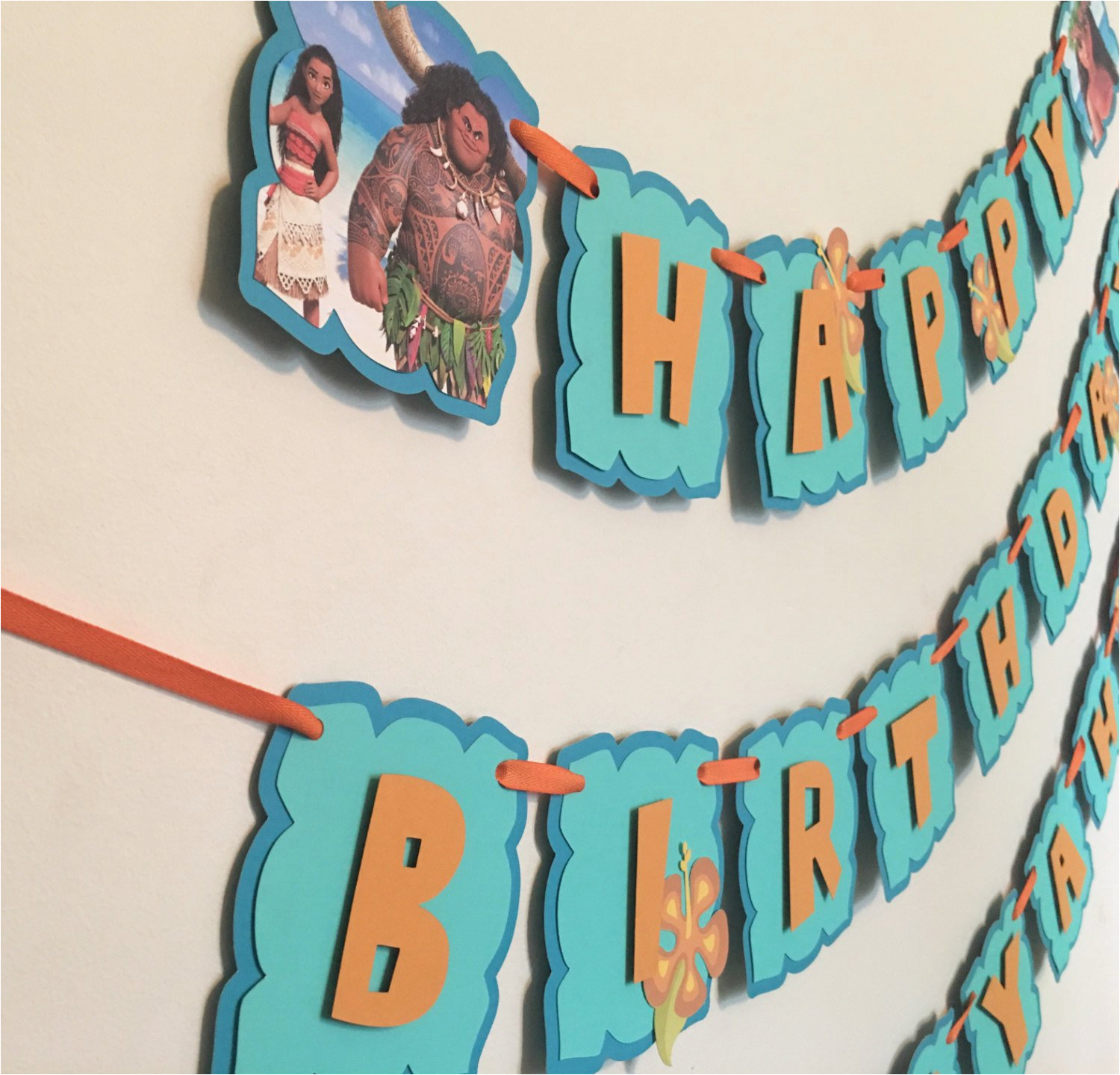 disneys moana birthday banner moana