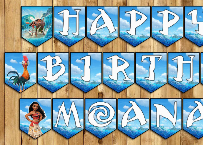 moana inspired birthday banner moana birthday banner moana happy birthday bunting moana garland moana birthday party moana movie