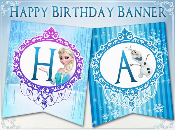 Free Printable Frozen Happy Birthday Banner Templates 6 Frozen Party Banners Psd Ai Free Premium Templates