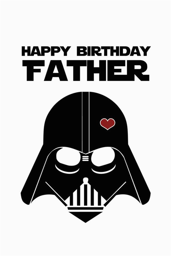 Free Printable Funny Birthday Cards for Dad Star Wars Funny Birthday Card for Dad Diy Printable