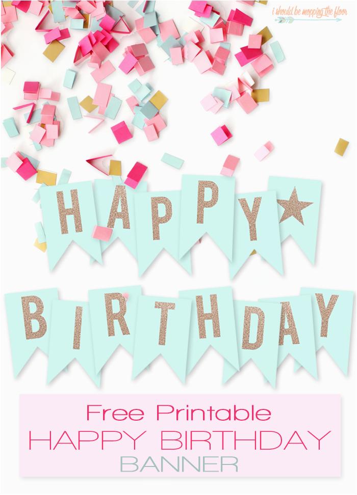 free printable happy birthday banner