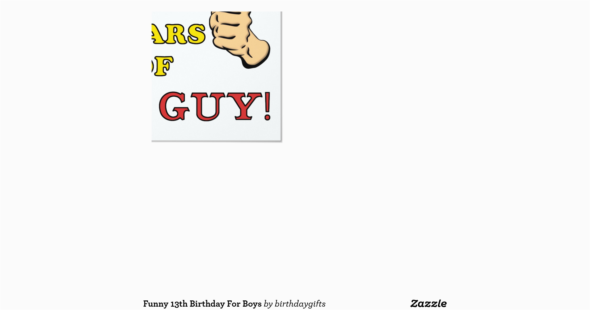 Funny 13th Birthday Cards Funny 13th Birthday for Boys 5 25 Quot Square Invitation Card