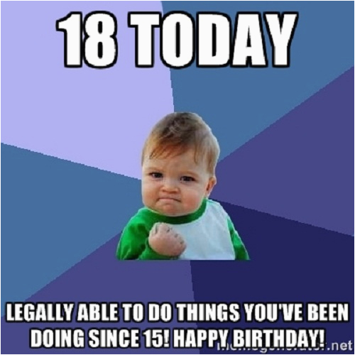 Funny 18th Birthday Memes top Hilarious Unique Happy Birthday Memes Collection