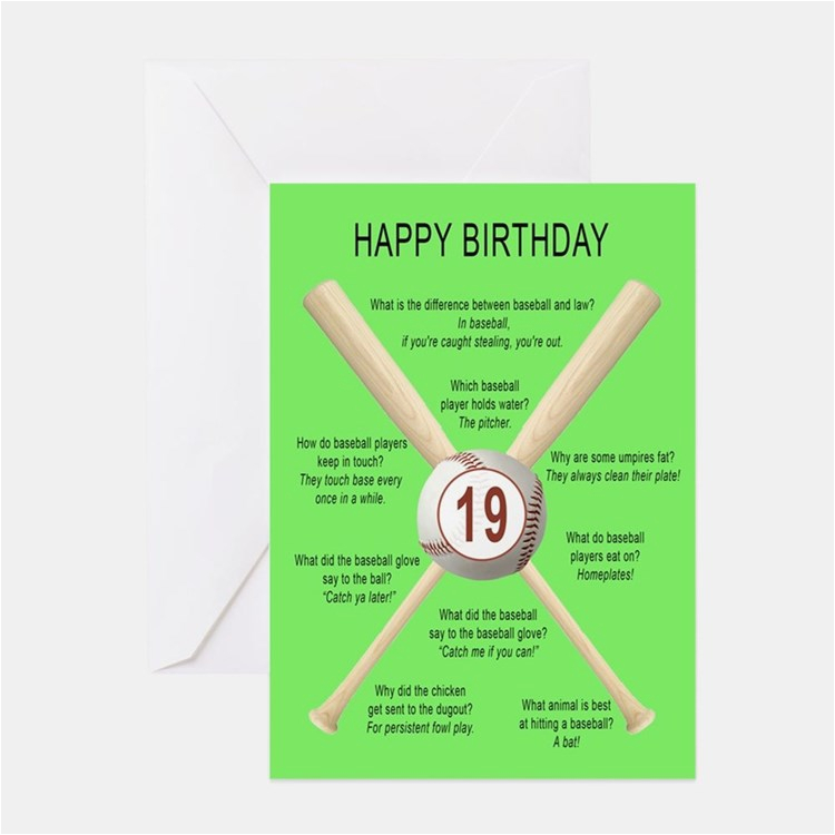 Funny 19th Birthday Greeting Cards