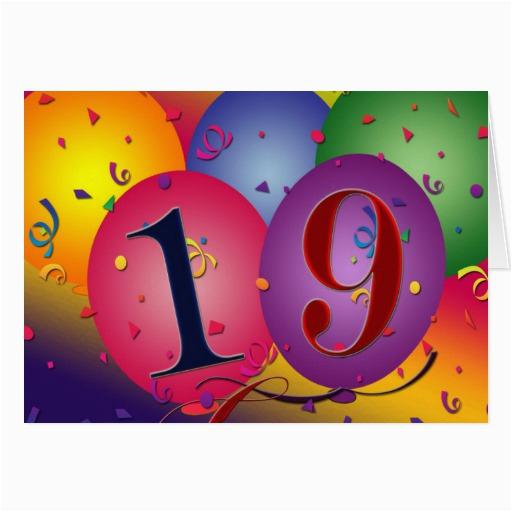 happy 19th birthday greeting card 137472067721947751