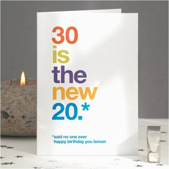 30th birthday card humorous sarcastic