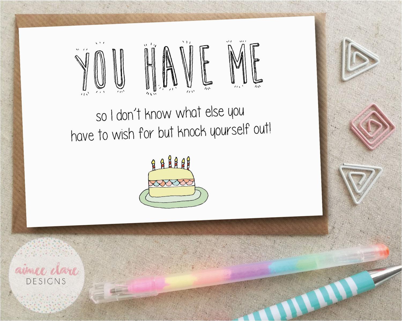 funny boyfriend girlfriend birthday card