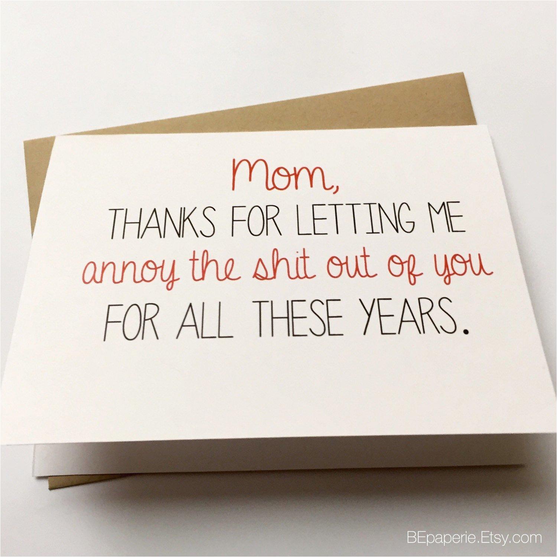 Funny Birthday Card Sayings for Mom Funny Mom Card Mother 39 S Day Card Mom Birthday Card