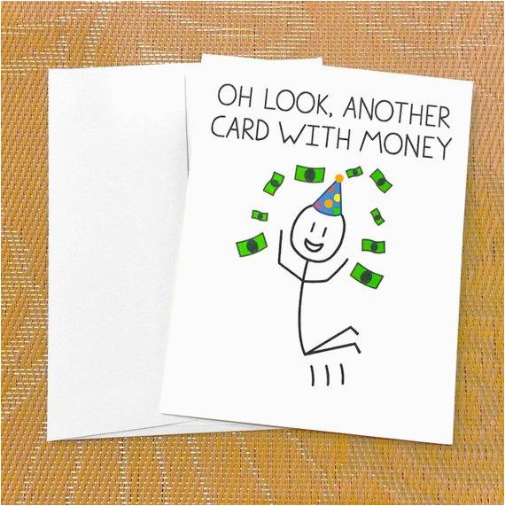 funny birthday card for teen funny money