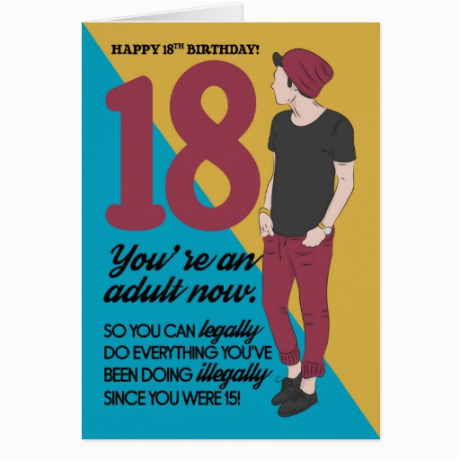 Funny Birthday Cards For 18 Year Olds 18th Card Fun And Trendy Humor Zazzle