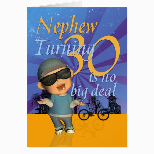 nephew 30th birthday card cute dude 137220946325889131