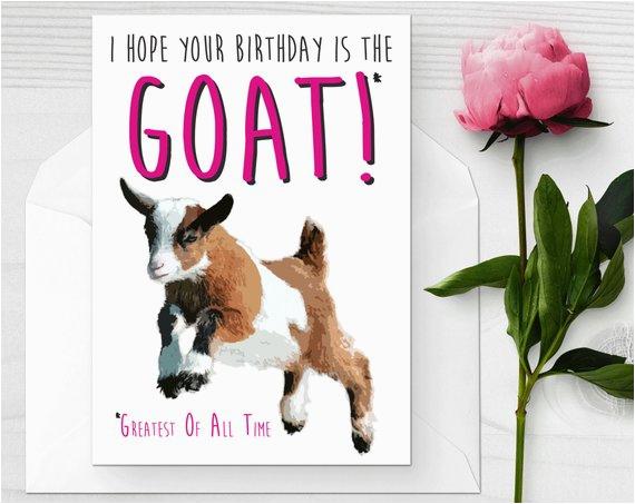 baby goat birthday card funny birthday