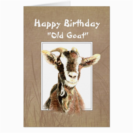 funny birthday over the hill old goat humor card 137106797083535114