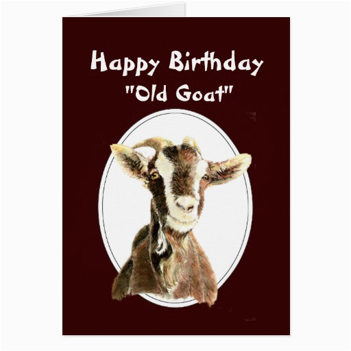 funny birthday over the hill old goat humour greeting card 137473198273078328