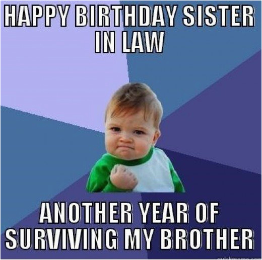 happy birthday sister in law quotes and meme