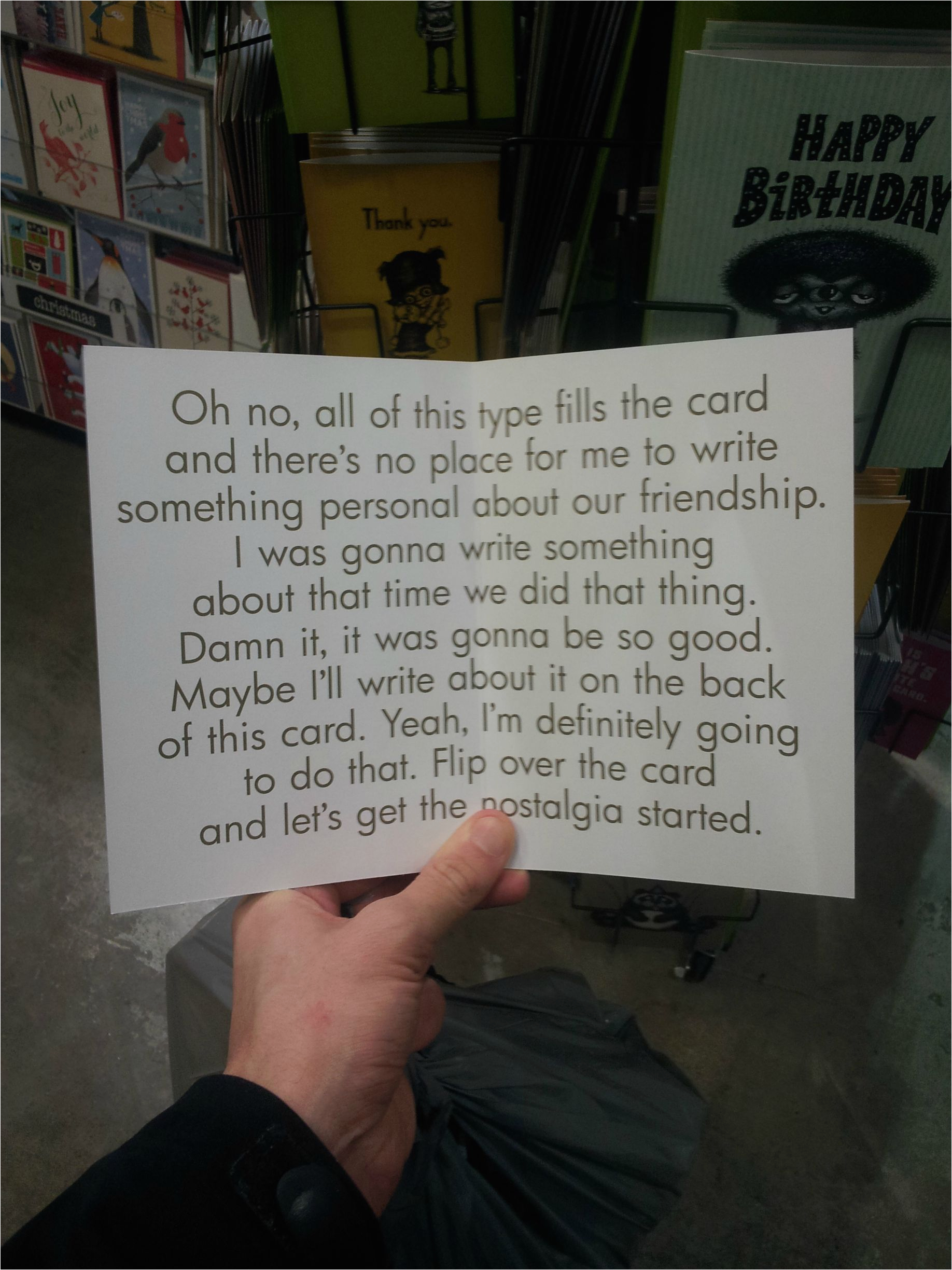 the perfect birthday card for when you dont know