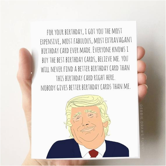 donald trump birthday card funny