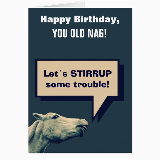 funny talking horse greeting cards 137956455595810786