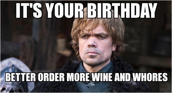 game of thrones birthday meme