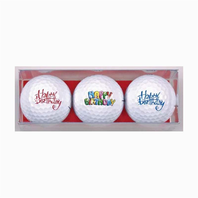 happy birthday premium golf ball gift pack 3 balls
