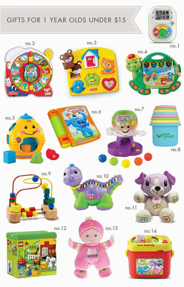 1 year old toys