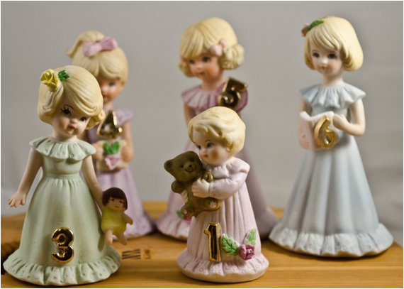 growing up birthday girls figurines made