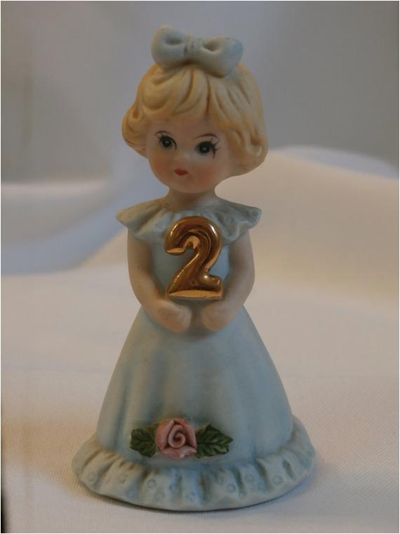 Growing Up Birthday Girls by Enesco Blonde Growing Up Birthday Girl Age 2 Enesco by