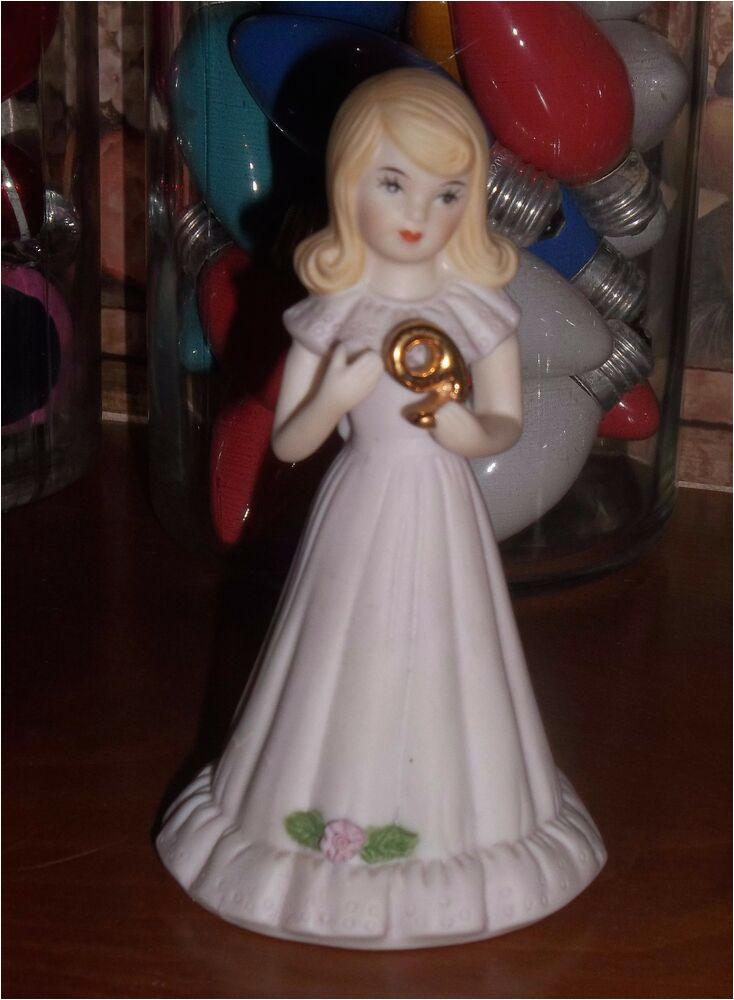 Growing Up Birthday Girls by Enesco Enesco Growing Up Girls 9th Birthday Doll Figurine
