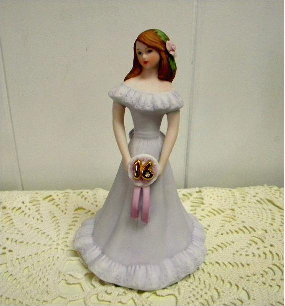 Growing Up Birthday Girls by Enesco Enesco Vintage Growing Up Birthday Girls 16 Years Porcelain