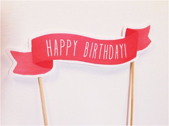 photograph regarding Happy Birthday Cake Topper Printable identified as Satisfied Birthday Banner Cake topper Printable Pleased Birthday