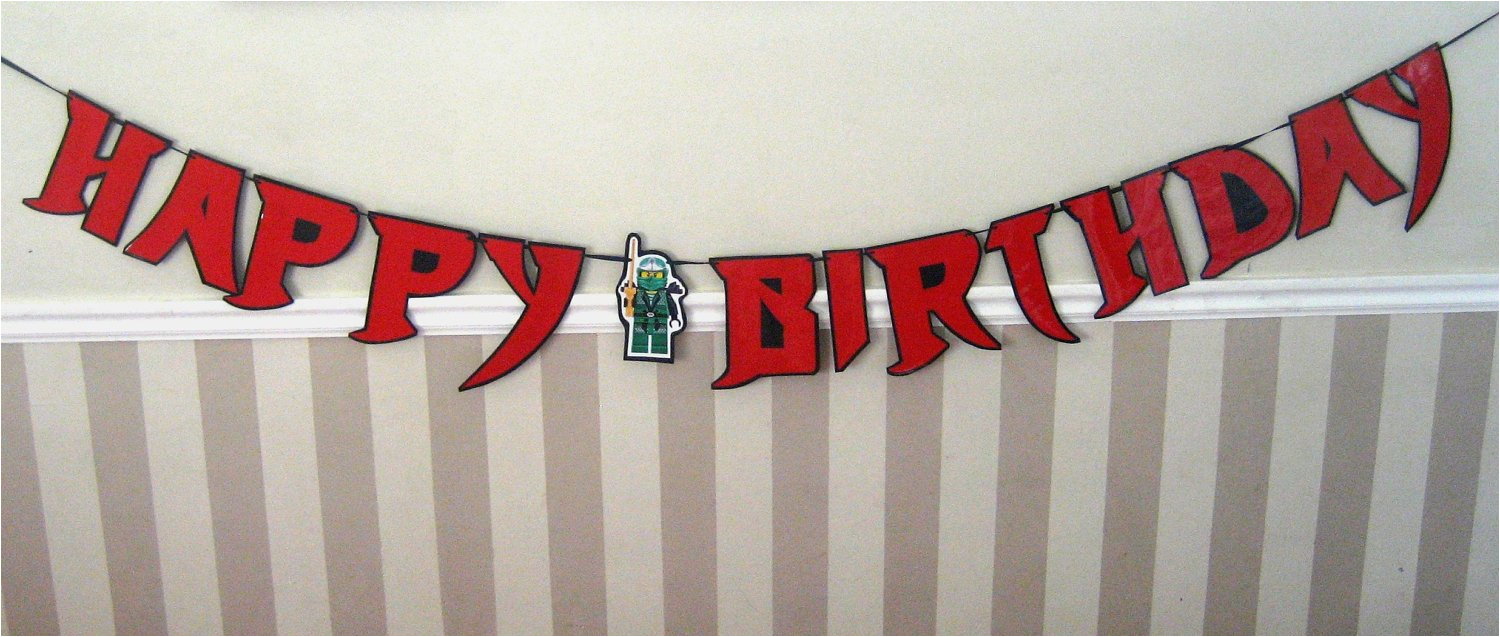 ninja font happy birthday banner giant