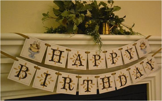 happy birthday bannergarland for adults
