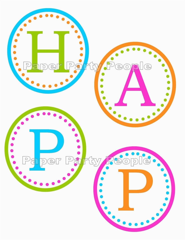 happy birthday banner printable diy 35