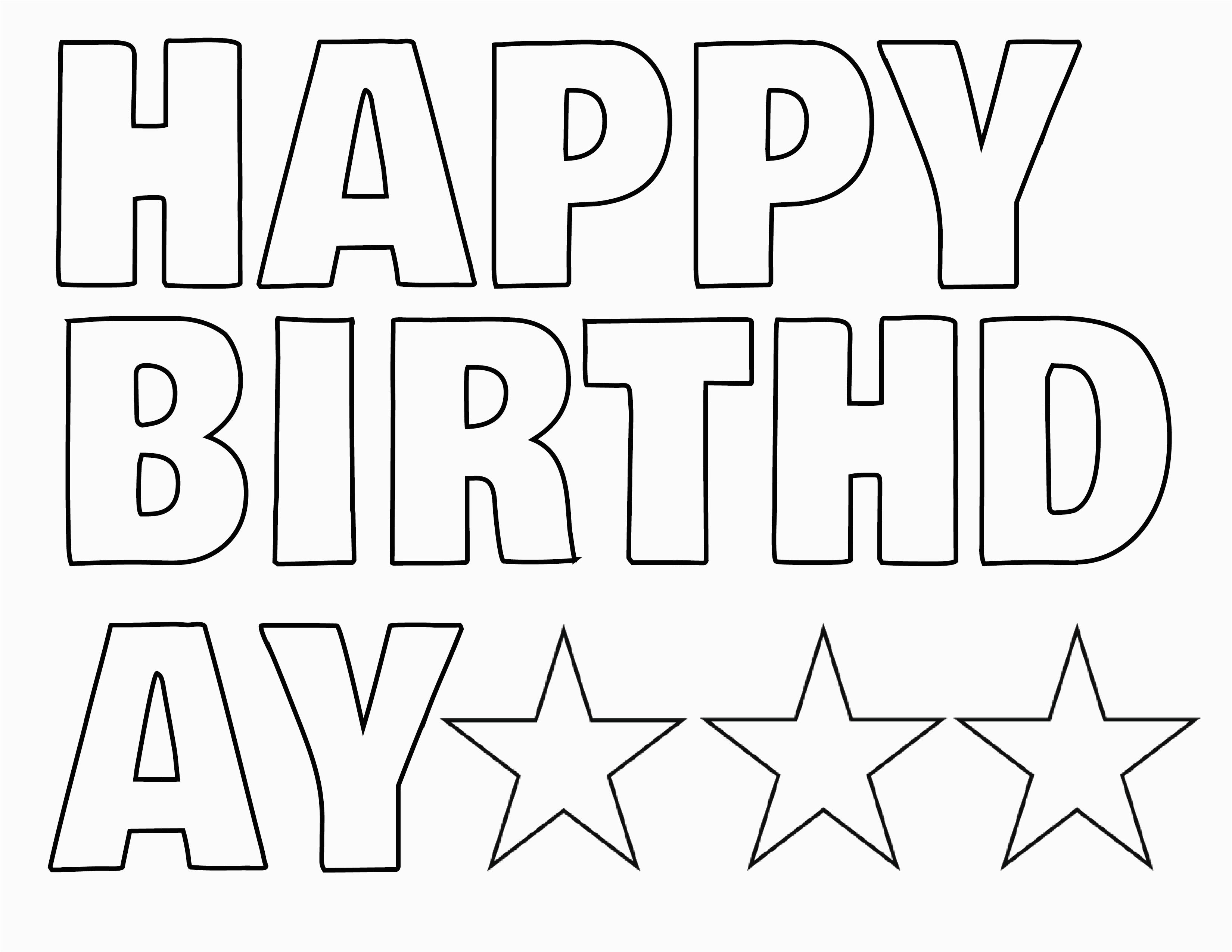 happy birthday letters to print