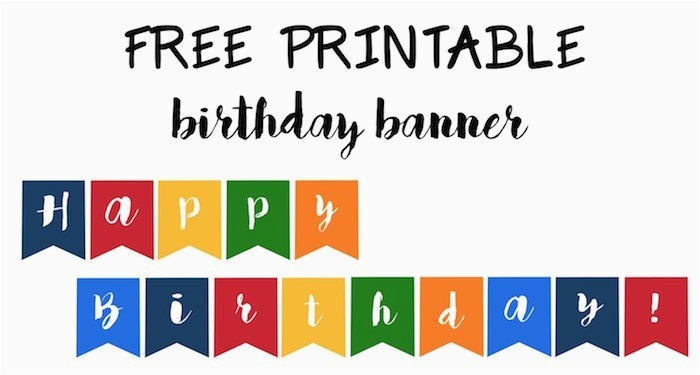 happy birthday banner free printable