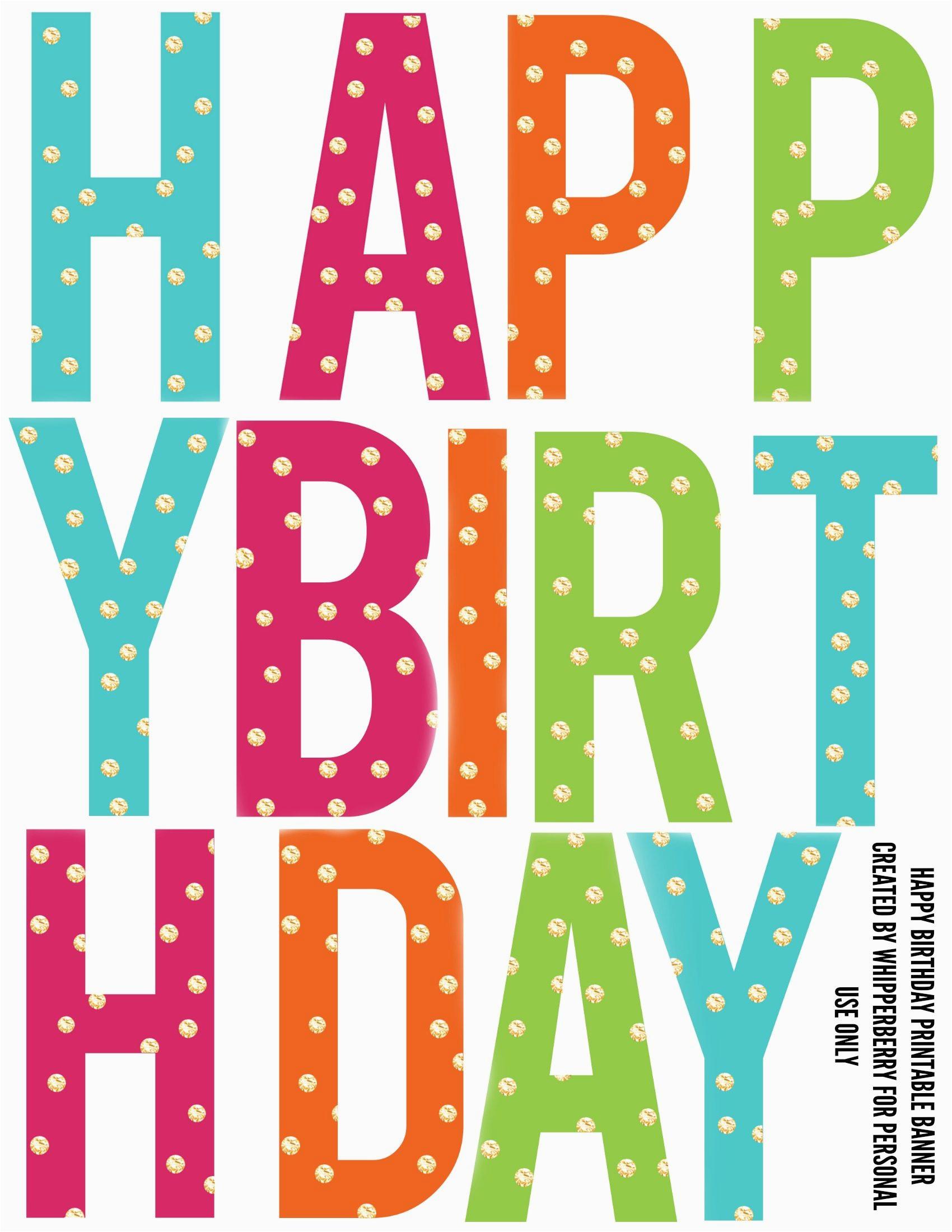 printable birthday banner letters