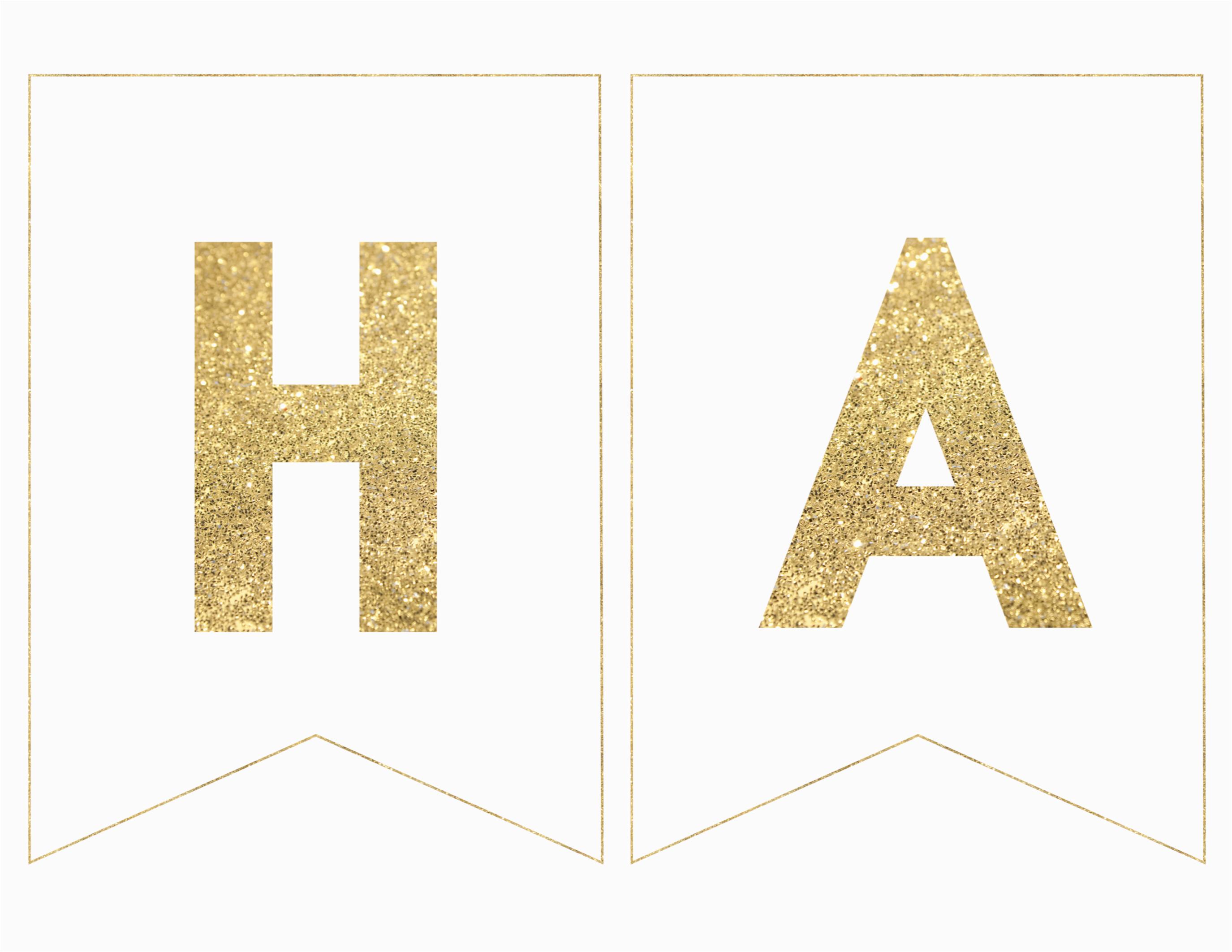 happy birthday banner printable template