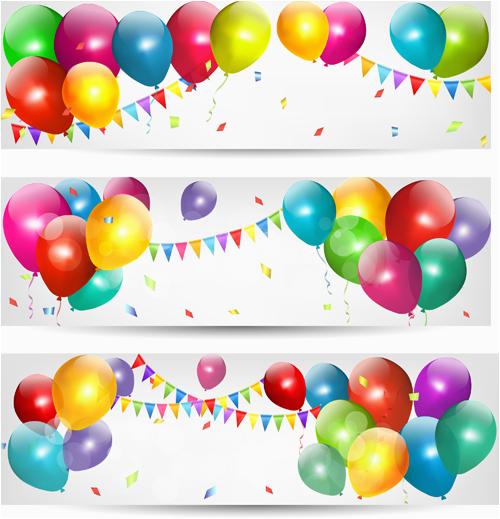 birthday banner vector download