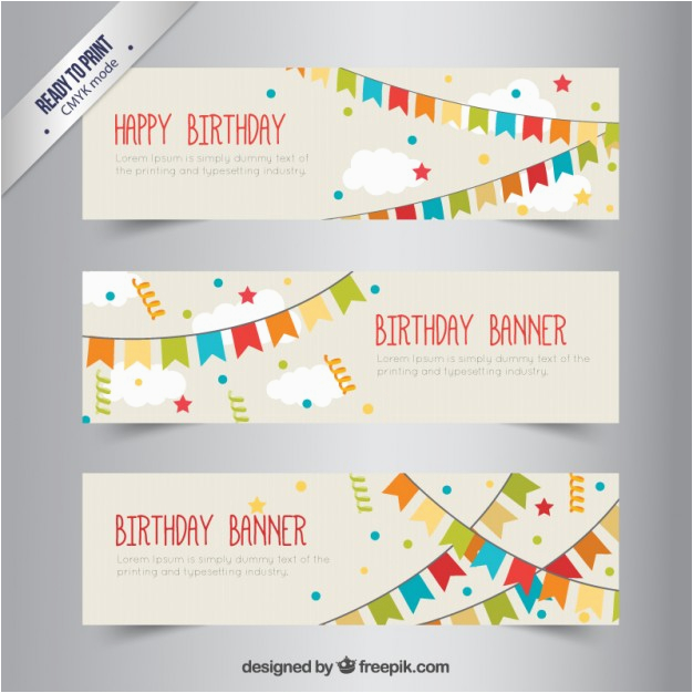 birthday banners with bunting 797568