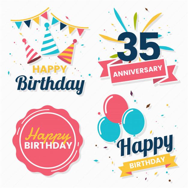 happy birthday vector logo banner 2079195