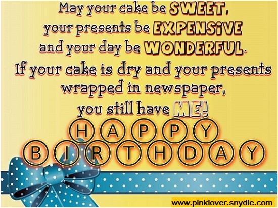 Happy Birthday Cards Funny Message Wishes For A Friend Pink Lover