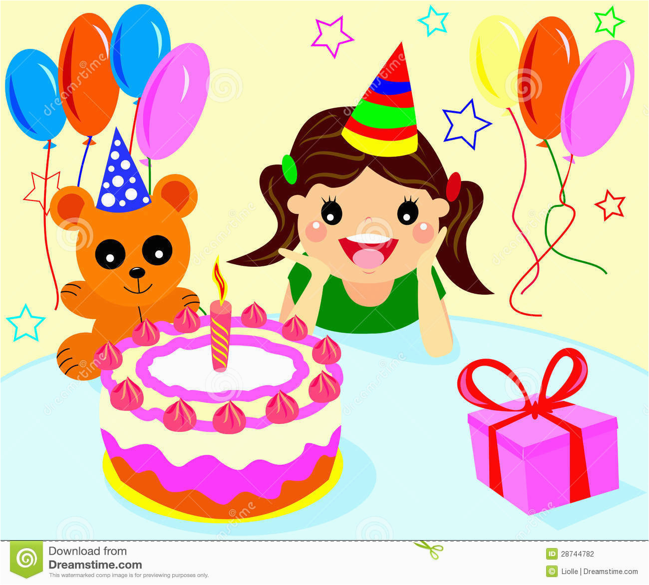 stock photography happy birthday girls image28744782