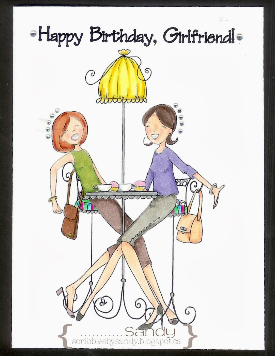 Happy Birthday Girlfriend Scribbles by Sandy August 2013