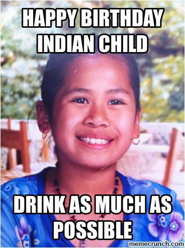 happy birthday indian child