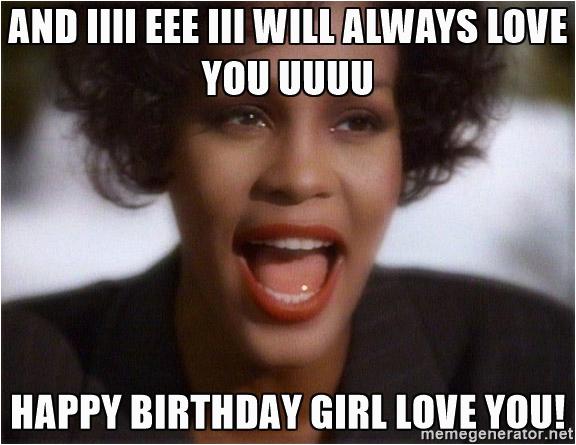 happy birthday girl meme
