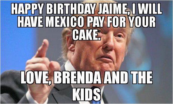 trump birthday meme