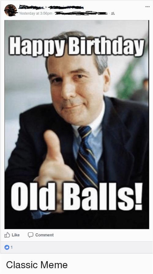 happy birthday old man meme