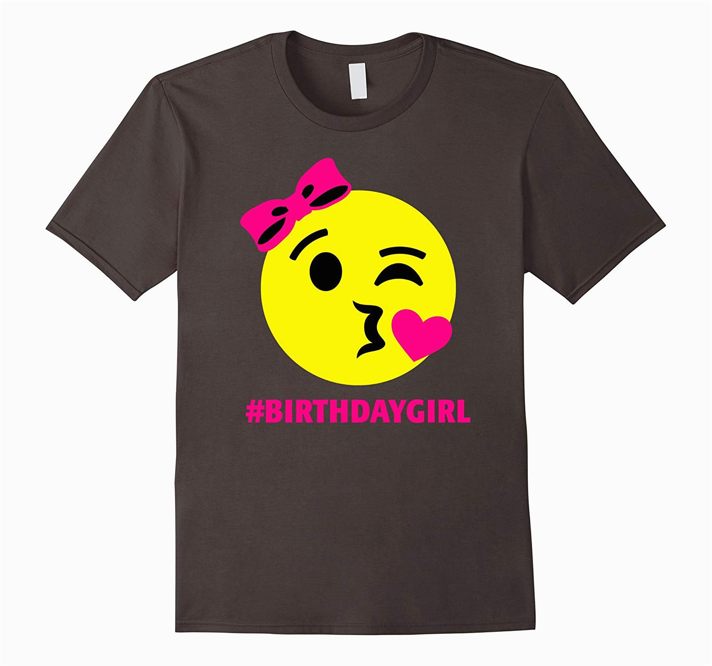 hashtag birthday girl shirt emoji smiley neon pink cd