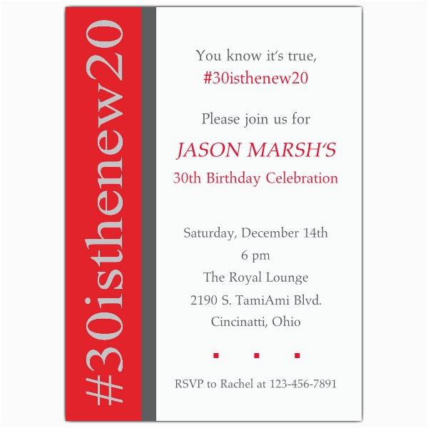 30 hashtag birthday invitations p 642 57 071