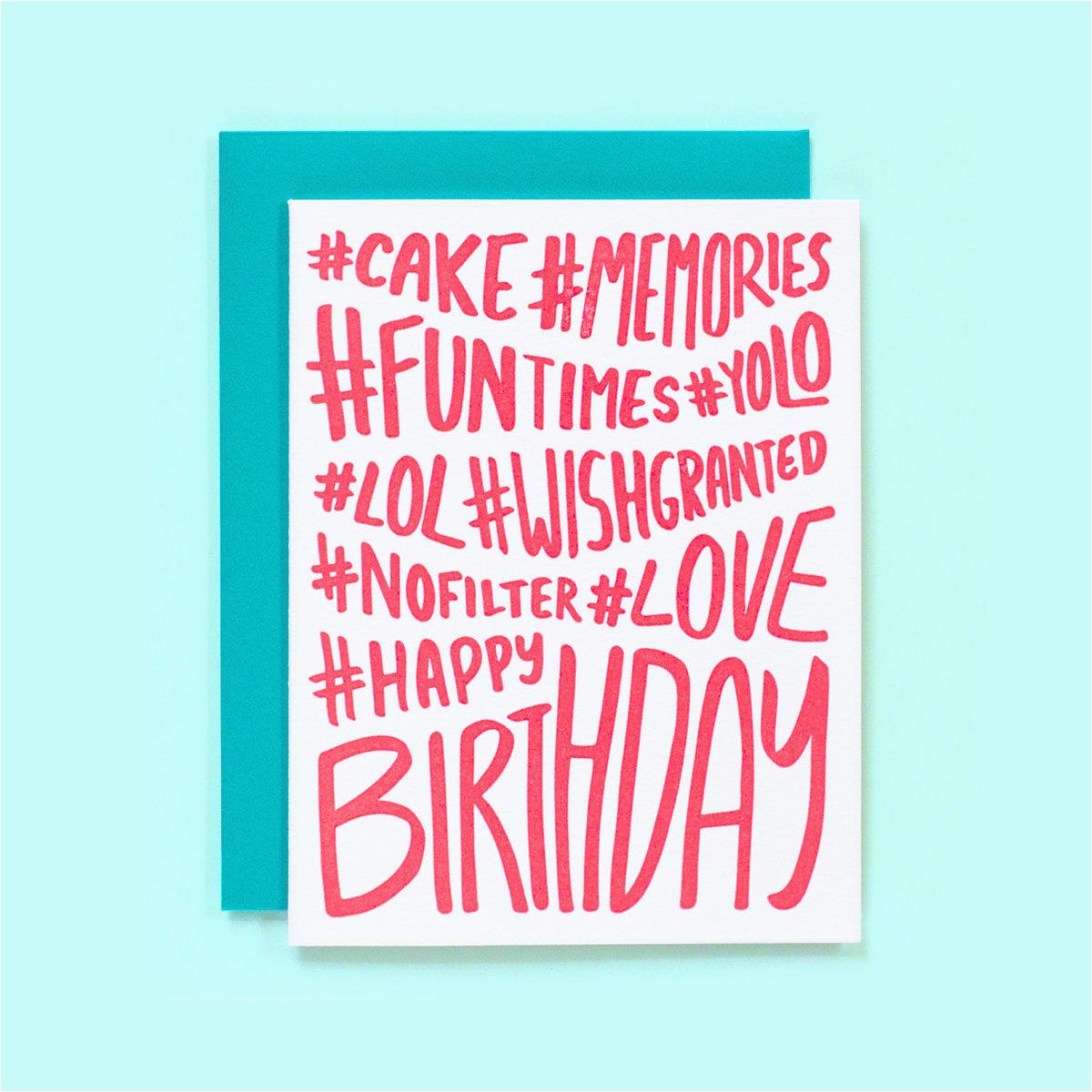 hashtag birthday card hashtag happy